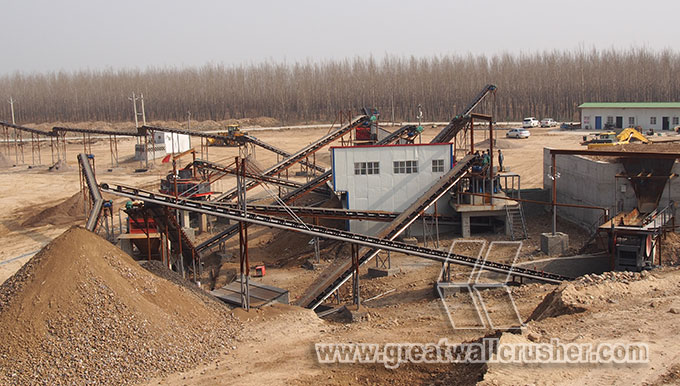 cone crusher,jaw crusher and sand making machine in crushing plant