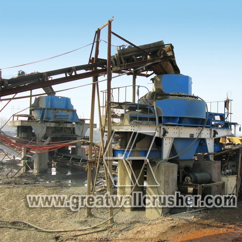 stone crusher and sand making mqachine in crushing plant