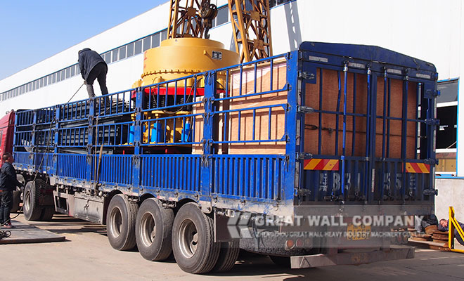 CZS cone crusher delivery site for crushing plant