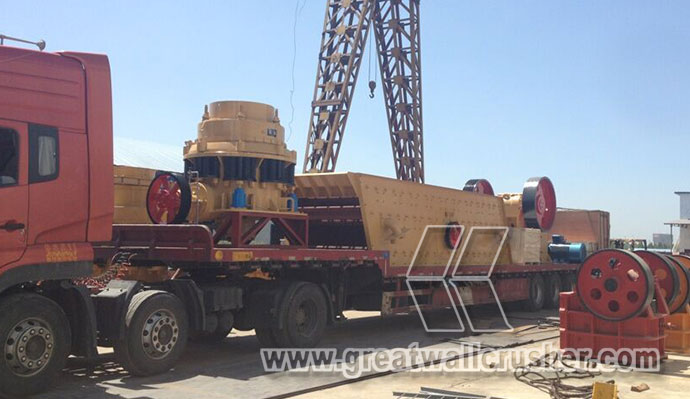 Ready cone crusher delivery site