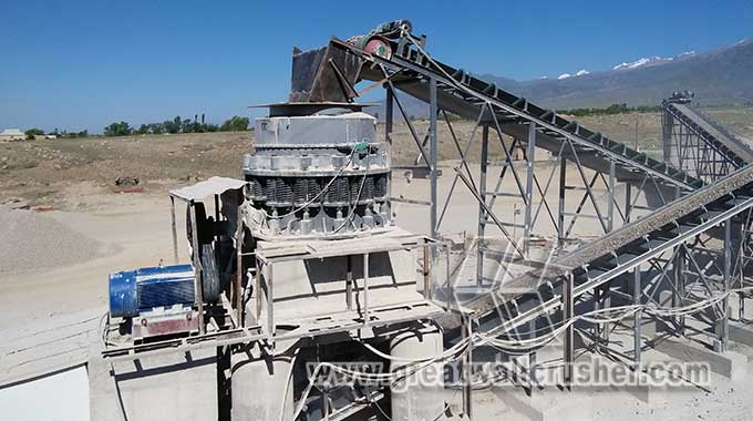Cone crusher for sale in complete crushing plant