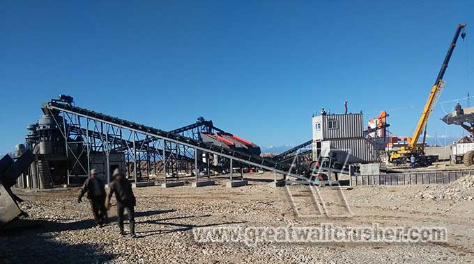 Configurations of cone crusher and jaw crusher