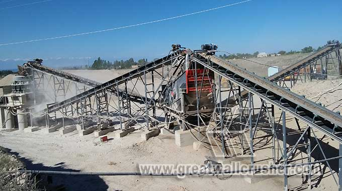 Cone crusher and jaw crusher for quarry crushing plant