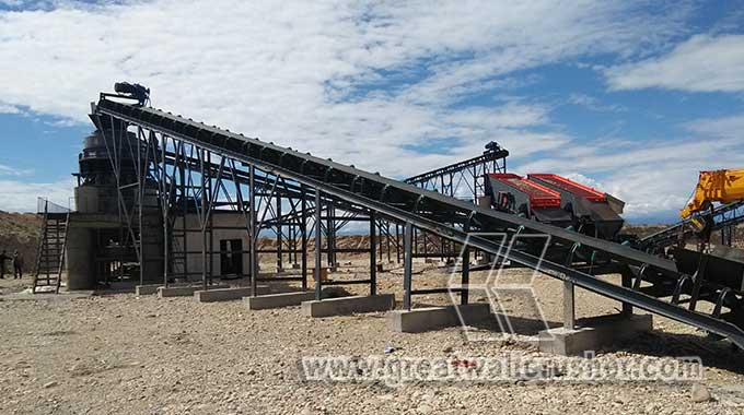 stone crusher installation for crushing plant