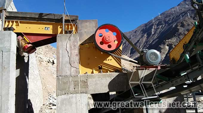 Jaw Crusher for Indonesian basalt crushing plant