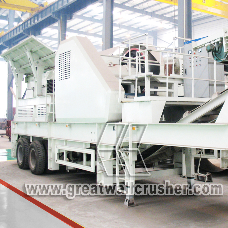 Mobile crushing plant in South Africa