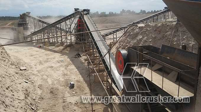 Primary jaw crusher and secondary cone crusher for crushing plant UK