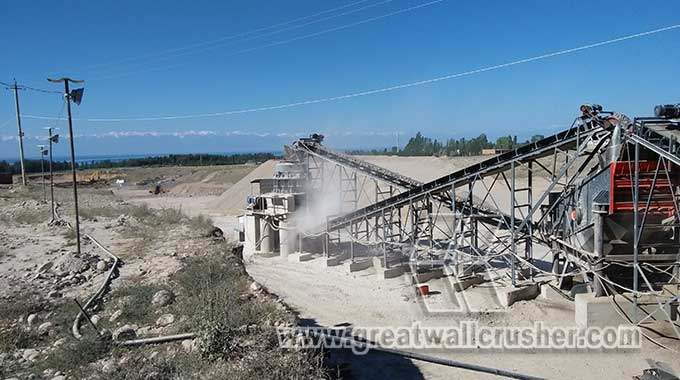 CZS cone crusher and jaw crusher for sand making line
