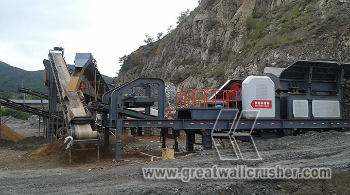 Mobile crushing plant in mining machinery market