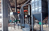 Work site of grinding plant