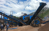 Work site of stone production line